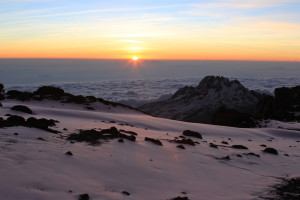 Sunrise from the summit of Kilimanjaro. (Filip Lachowski / Flickr)