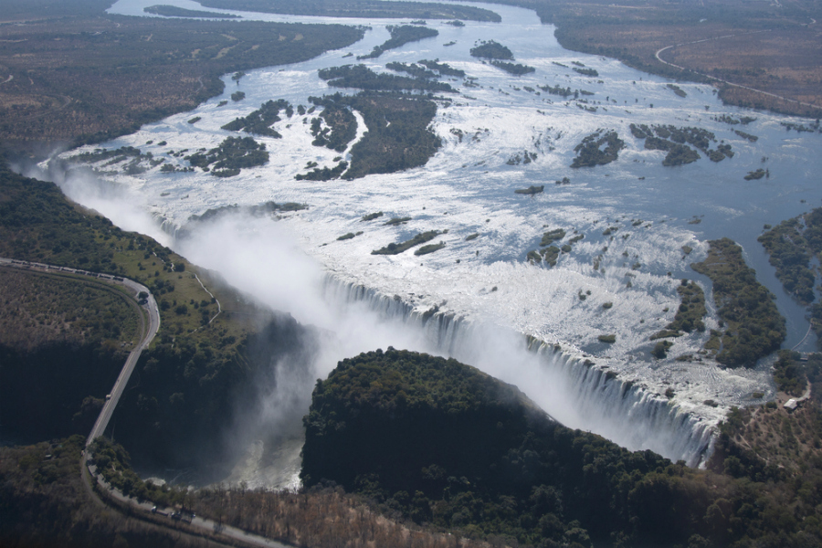 Aerial view of Victoria Falls (Shutterstock)