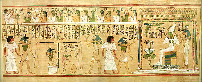An except from the Egyptian Book of the Dead, a collection of spells designed to guide the deceased in the afterlife (John Bodsworth, Wikimedia Commons)