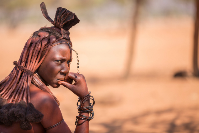 A Himba woman, Namibia (FCG / Shutterstock)