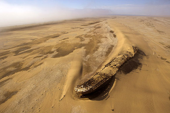 The wreck of the Edouard Bohlen, Namibia (Courtesy of Coastalcare.org)