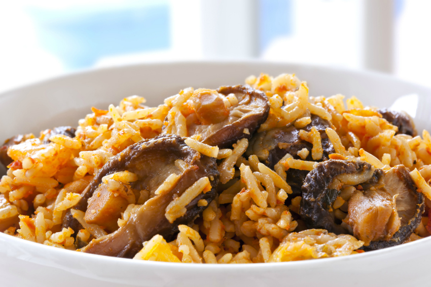 West African jollof with shitake mushrooms (Shutterstock)
