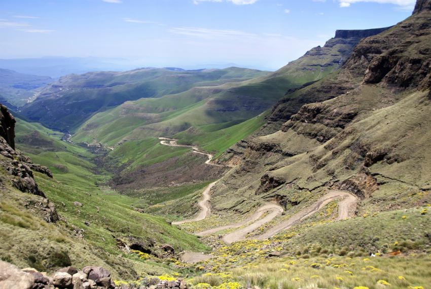 Winding mountain road, Lesotho (Shutterstock)