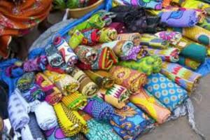 Open-air market in Ghana