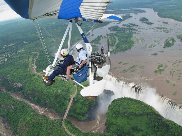 Microflight over Victoria Falls