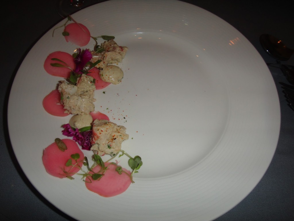 Lobster and radish at Cube Tasting Kitchen/ Rishav Nair