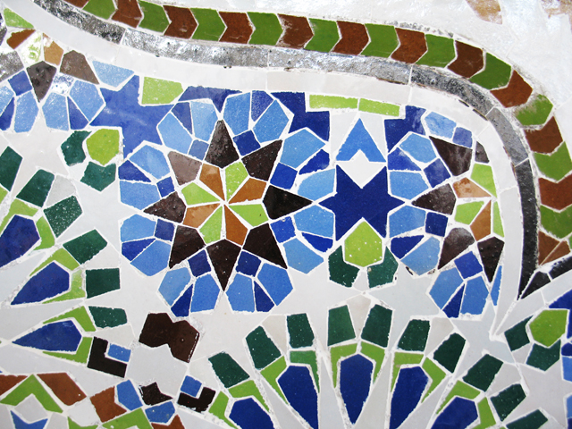 Detail of a geometric Arabesque design. (Photo ©2013 by Susan McKee)