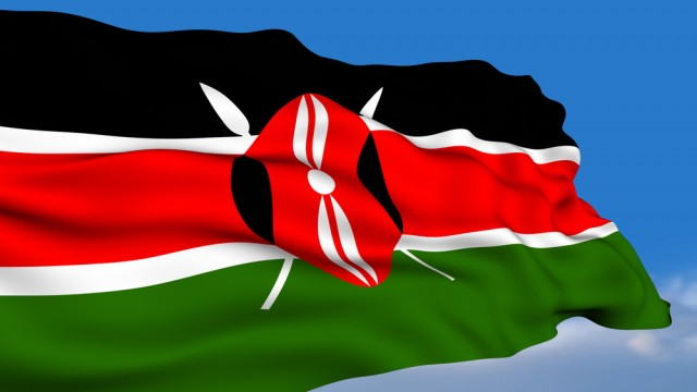 kenya flag waving