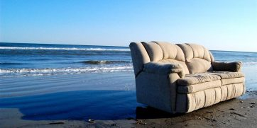 couch on beach