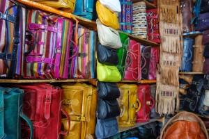 Fez leather shop