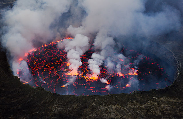 Mount Nyiragongo in DRC (Wikipedia Commons)