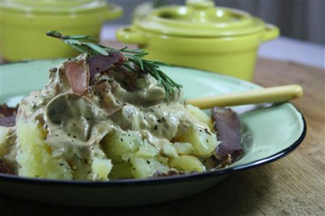 Biltong baked potato