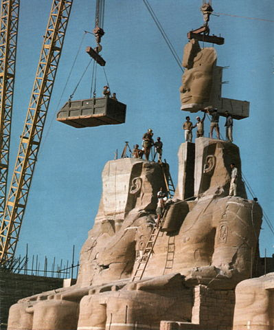 Reconstruction of Abu Simbel (Per Olow Anderson/Wikipedia Commons)