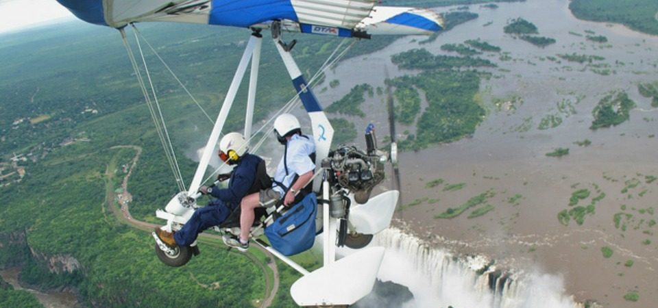 Microlight over Victoria Falls. Photo: Roger Smith/ Flickr