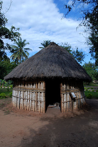 Village hut in museum