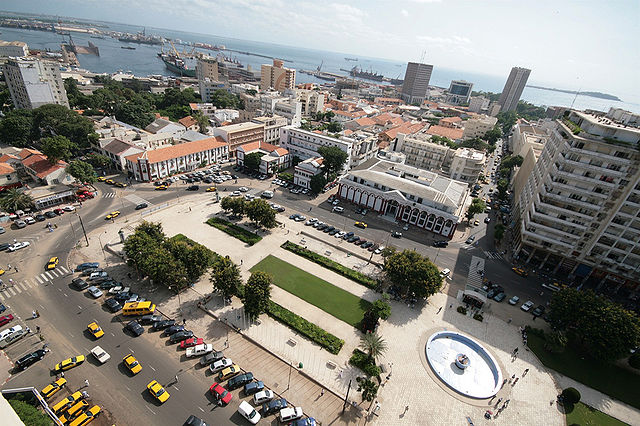 Central square in Dakar
