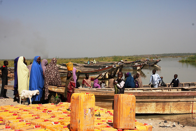 Lake Chad is shrinking in Central Africa