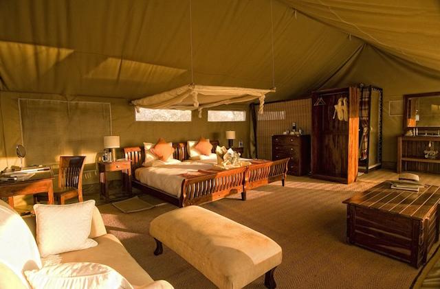 glamping at Linyanti Bush Camp in Botswana