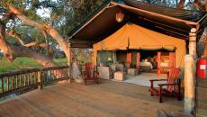 gunns camp in botswana tent