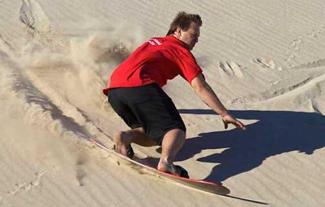 karoo island sandboarding in australia