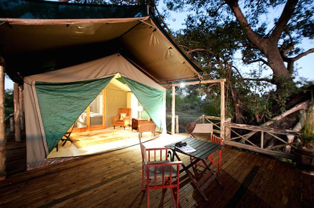 glamping in pom pom camp in botswana