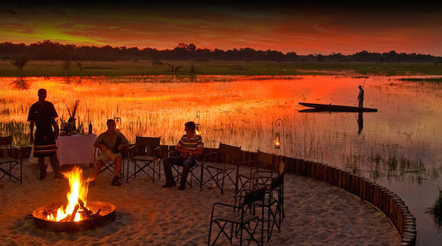 glamping at sanctuary chiefs camp in botswana