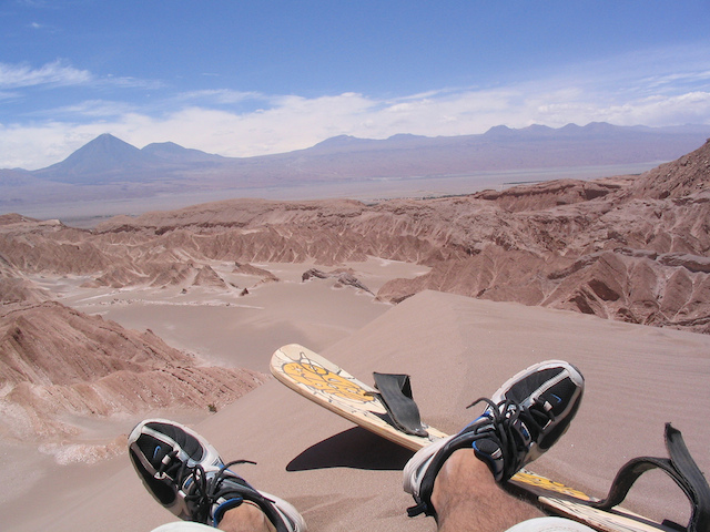 sandboarding in death valley in chile