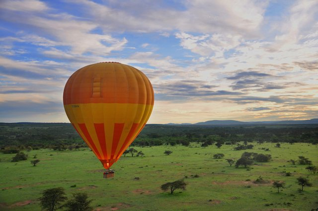 Kafue National Park in Zambia hot air balloon