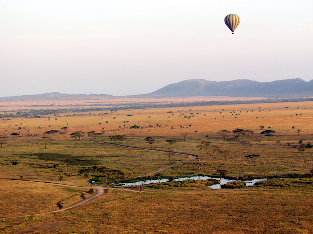 Oudtshoorn in South Africa hot air balloon