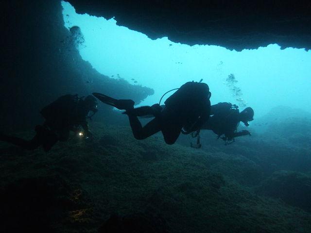 Palmira 4 cave dive in cape verde