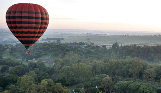 cradle of mankind hot air balloon in south africa