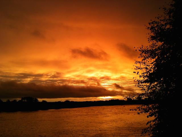 orange river sunrise