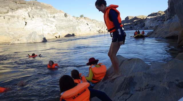 orange river swimming