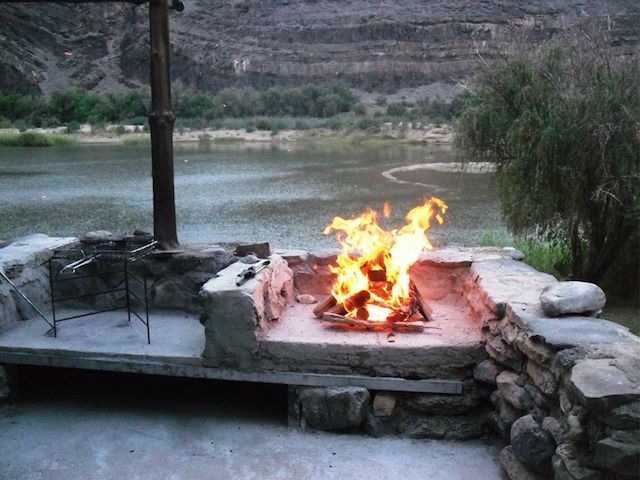roughing it in the orange river