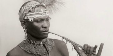 Xhosa man with pipe, South Africa, 1920s. Photo: Alfred Martin Duggan-Cronin