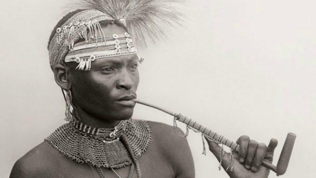 Xhosa man with pipe, South Africa, 1920s. Photo: Alfred Martin Duggan-Cronin
