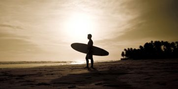 surfing in Senegal