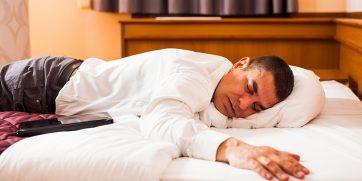 sleeping in a noisy hotel
