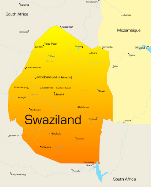Things You Didnt Know About Swaziland AFKTravel - Swaziland map
