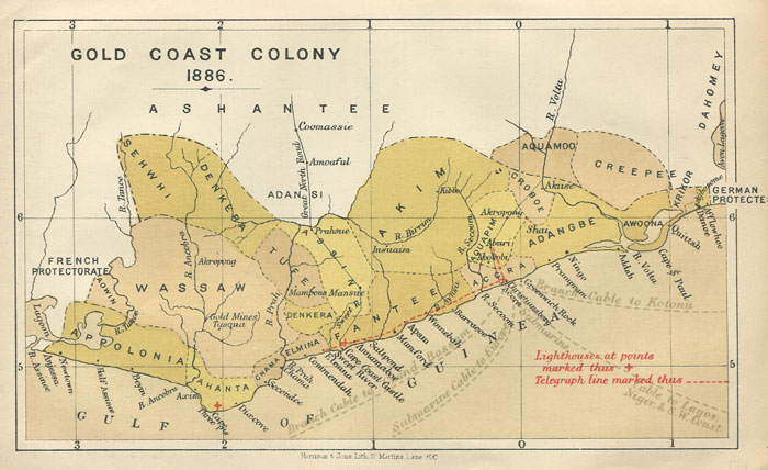 Gold Coast Africa Map Map Of Africa