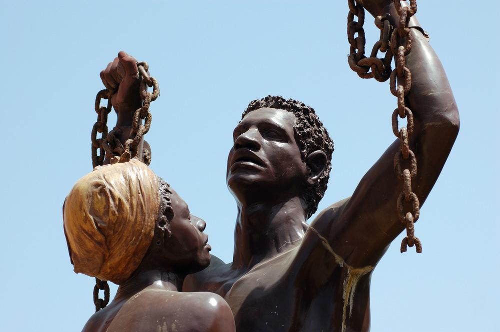 goree island liberation statue
