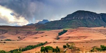 view from blue grotto in drakensberg
