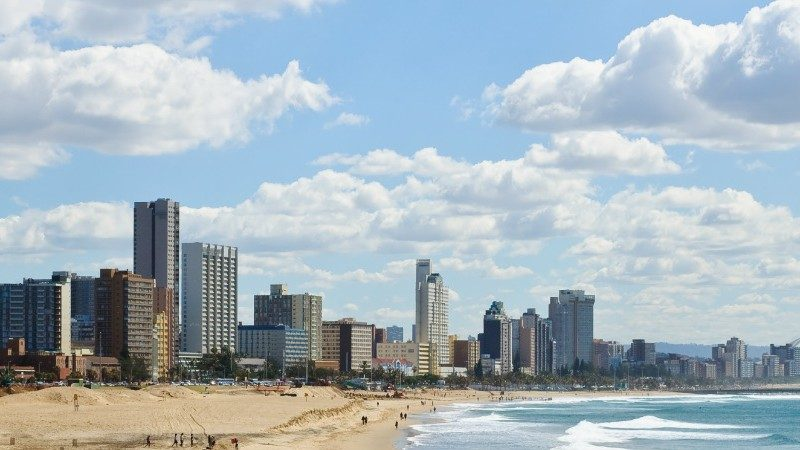 durban skyline and beach