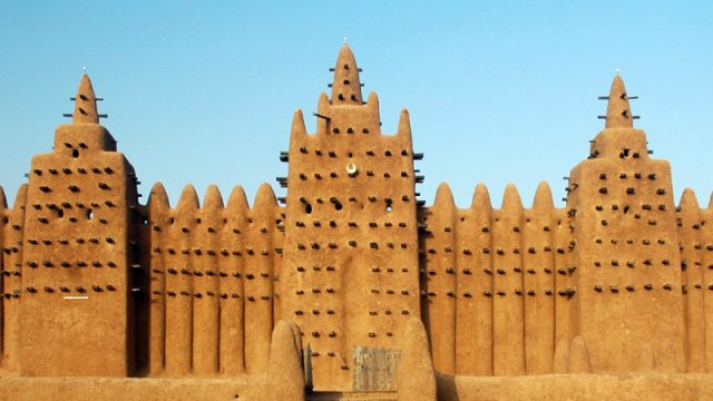 mud mosque djenne mali wide