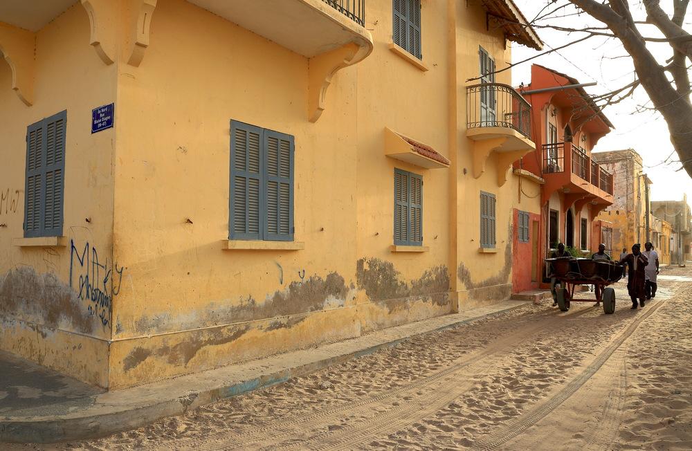 streets senegal sand
