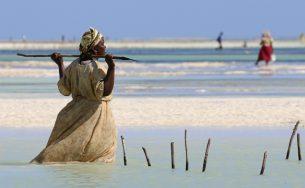 zanzibar beach woman