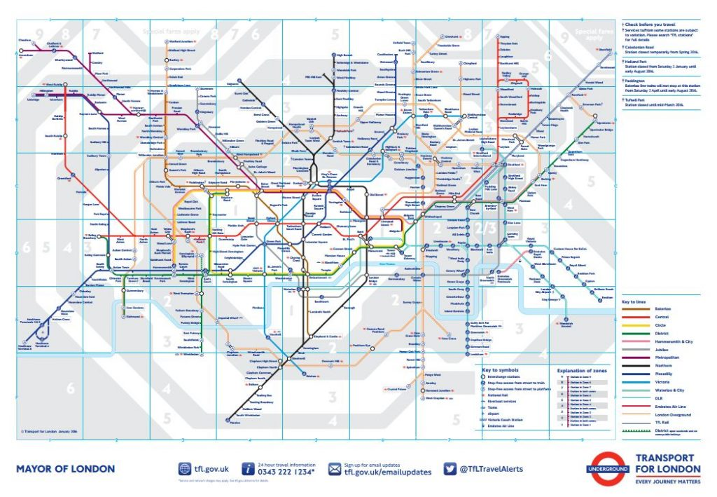 london subway map