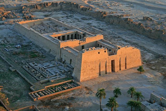 luxor temple aerial