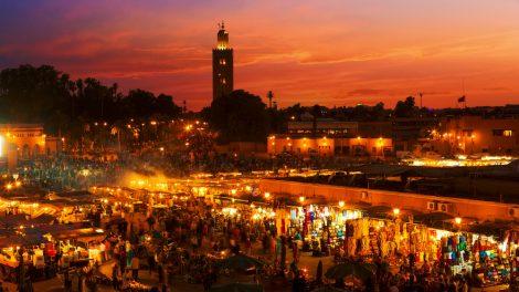 marrakech sunset