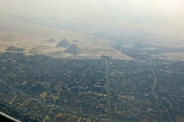 pyramids of giza aerial